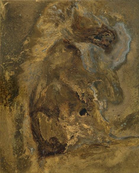 VIOLENT DREAMS Messinki, kuolleen eläimen jäänteet Brass, original substances of a dead animal 51,5 x 41,5cm  2014 (original photo Jussi Tiainen)